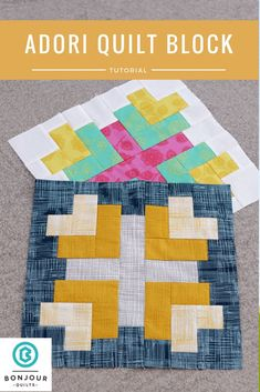 Today I have a quilt block tutorial showing you how to sew this Adori quilt block. It's a great block to use up scraps as well!