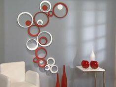 Manualidades y Artesanías | Pared retro con círculos | Utilisima.com