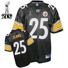 a37193d7dbf ... Steelers 25 Ryan Clark Black Super Bowl XLV Embroidered Throwback NFL  Jersey! Only 22.50 Nike ...