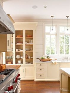 tall cabinet and shiplap