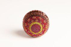 Beaded Ball  Napa Sunset  Large Sphere Handmade by TheBeadedEgg