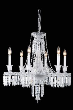 Majestic 6 Light Crystal Chandelier