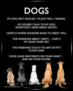 Dogs 8x10 Poster Print. A funny dog poster is the perfect gift for Mother's Day! #dogquoteslove