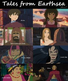 Tales from Earthsea characters... well, Cob's rather... creepy