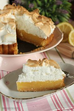 Lemon Pie perfect (Definitive recipe) - I have searched and tried a lot of rece . Lemon Pie Receta, Sem Lactose, Sweet Tarts, Yummy Cakes, Sweet Recipes, Cheesecake, Food Porn, Food And Drink, Yummy Food