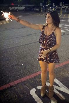 Lucy Hale Instagram pic July 4 2014 romper booties