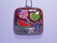 Cute resin jewelry on Etsy