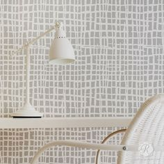 Loose Weave Wall Stencils - Woven Texture Designs for Painting Walls – Royal Design Studio Stencils Large Wall Stencil, Stencil Painting On Walls, Wall Stenciling, Floor Painting, Large Stencils, Geometric Stencil, Geometric Wall, Wall Texture Design, Wall Design