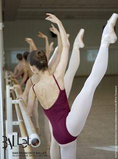 DANCE (AP) -   San Francisco Ballet - Ballerinas exercizing at the barre...