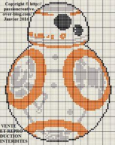 Grille gratuite point de croix : Star Wars BB8 - Le blog de Isabelle