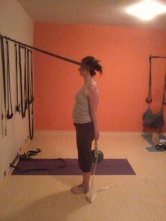 57 best iyengar yoga rope wall standing poses images