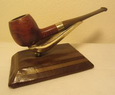Peterson Irish Gem Silver Shamrock Band Straight Apple Briar Estate Tobacco Pipe