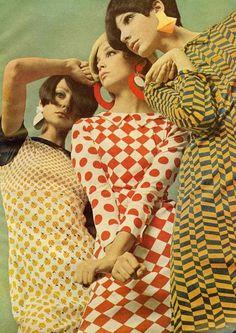 "MOD FASHION: the mod fashion statement was ""elegant, long hair, granny glasses, and Edwardian finery"""