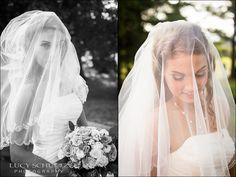 Gorgeous Bride   Bride Veil Photos   Country Wedding Photographer   Lucy Schultz Photography