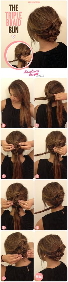 The Triple Braid Bun - Kouturekiss - Your One Stop Everything Beauty Spot - kouturekiss.com