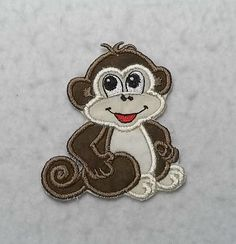 Monkey - MADE to ORDER - Choose COLOR and Size - Tutu & Shirt Supplies - fabric Iron on Applique Patch 6460 by TheFabricScene on Etsy