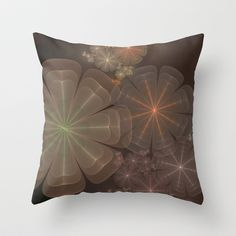 NeonSeries037 Throw Pillow by fracts - fractal art - $20.00