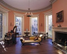 Historic Plantation Interiors | Second-floor drawing room, Nathaniel Russell House. Photo: Bill Struhs
