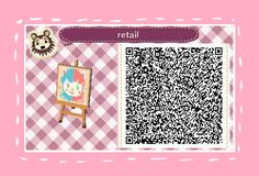 fairy-crossing: a retail sign i created off an art piece i did!! Retail Pattern Animal Crossing New Leaf Qr Code