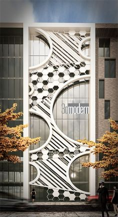 Facade Design, Exterior Design, Modern Architecture - Home Design Modern Architectural Styles, Modern Architecture Design, Commercial Architecture, Modern Buildings, Residence Architecture, Facade Architecture, Landscape Architecture, Design Exterior, Facade Design