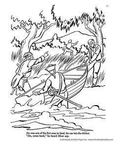 Treasure Island Story Coloring
