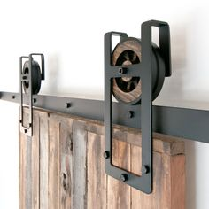 Rustic Industrial European Square Horseshoe Sliding Steel Barn Wood Door Closet Hardware Track FREE SHIPPING by TheWhiteShanty on Etsy