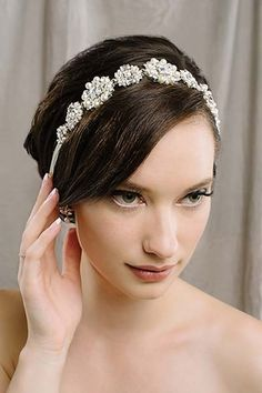 Harlow hair ribbon - This headpiece features crystals and pearls and can be worn as a sash and necklace!