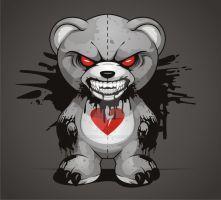 Illustration Evil Teddy by BurningEyeStudios Scary Teddy Bear, Teddy Bear Toys, Voodoo Doll Tattoo, Teddy Bear Tattoos, Teddy Bear Drawing, Arte Dope, Graffiti Characters, Evil Cartoon Characters, Dope Cartoon Art