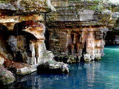 Dogwood Canyon Nature Park - Lampe, Missouri - Rocks near Glory Hole Waterfall.