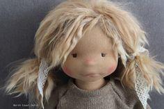 Ysaline handmade One of a Kind doll :: North Coast Dolls Online Shop Doll Patterns, Clothing Patterns, North Coast, Waldorf Dolls, Doll Clothes, Teddy Bear, Toys, Handmade, Crafts