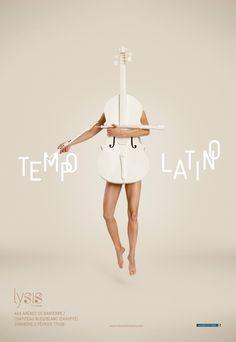 Promotion outdoor poster for the Tempo Latino Tour 2014 of the music trio Ensemble Lysis. #Advertising