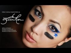 Officially licensed apparel for Dallas Cowboys by FanPrint. Football Moms, Dallas Cowboys Football, Dallas Cowboys Makeup, Cow Boys, Cowboy Gear, Halloween Ideas, Halloween Face Makeup, Make Up, Painting