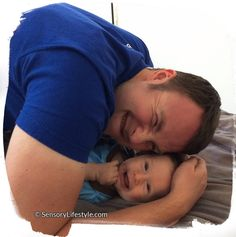 Josh laughing with daddy