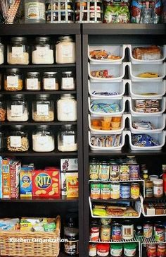 such a great way to organize the pantry Our small kitchen concepts are excellent for these not blessed with a big and sociable kitchen-diner. Positive, you won't have house for a kitchen island, vary cooker, and eating desk to cram [. Bookshelf Organization, Kitchen Organization, Organization Hacks, Kitchen Storage, Organizing Ideas For Kitchen, Bookshelf Pantry, Kitchen Organizers, Kitchen Pantry, Diy Kitchen