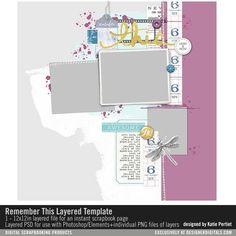 Remember This Layered Template- Katie Pertiet - PSE/PS Templates- LT240013- DesignerDigitals
