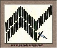 Civan kaşu Beaded Embroidery, Cross Stitch Embroidery, Lesage, Bargello, Needlework, Beads, Fabric, Pattern, Handmade