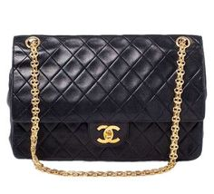 CHANEL Vintage Lambskin Medium Double Flap Black ❤ liked on Polyvore  featuring bags 9eb482a1ce534