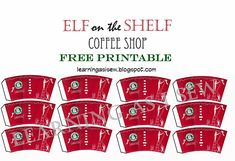 Learning As I Sew...bake, cut, and create: Elf on the Shelf: Coffee Cups and Newspaper with Free Printables