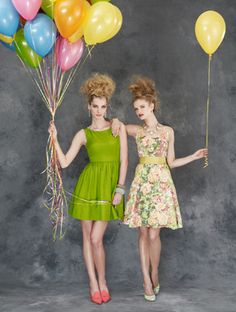 Fit-N-Flare #BHLDN #Carousel #Balloons #Dress