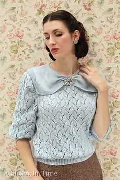 Knitting Patterns Vintage Ravelry: The Prettiest Collar pattern by Susan Crawford Beginner Knitting Patterns, Knitting Blogs, Knitting Tutorials, Knitting Projects, Vogue Knitting, Sock Knitting, Knitting Machine, Free Knitting, Vintage Crochet Patterns