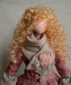 Коллекционные куклы ручной работы. Ярмарка Мастеров - ручная работа. Купить Интерьерная кукла Джейн. Handmade. Коралловый, уют для дома