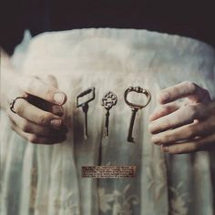 """Keys have longs been associated with the Mystery Religions of Egypt, Greece, and the older Mediterranean cultures. Keys symbolize the binding and loosening in magical rites, as well as the spiritual..."