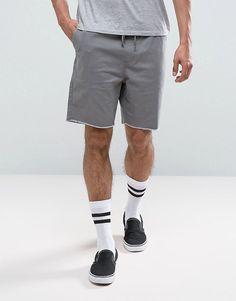 Brixton Shorts With Drawstring Waist - Gray