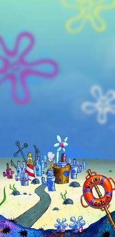Spongebob Bikini Bottom phone wallpaper HD