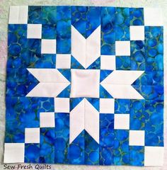Today I am sharing a tutorial for the Stepping Stones quilt block designed in I next had to decide on a positive or negative setting. Quilting Blogs, Quilting Tutorials, Quilting Projects, Star Quilt Blocks, Star Quilts, Amish Quilts, Quilt Block Patterns, Pattern Blocks, Two Color Quilts