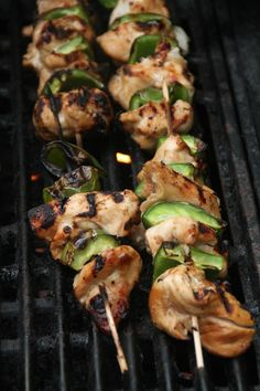 Brochettes de poulet marinées au citron vert, miel et soja