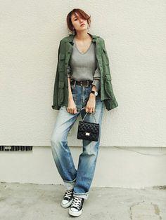 beauty&youthのミリタリージャケットは リスタのみーちゃんが着てるのを見て 可愛いかった
