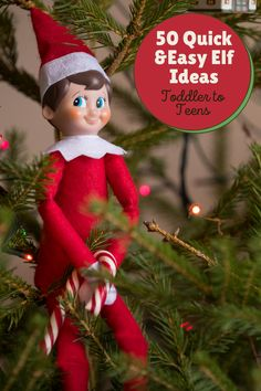 50 Super Simple Elf Ideas with easy to follow pictures