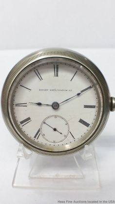 1880-89 : Large Antique Elgin Silverode Men's 11 Jewels Pocket Watch To Restore  #Elgin