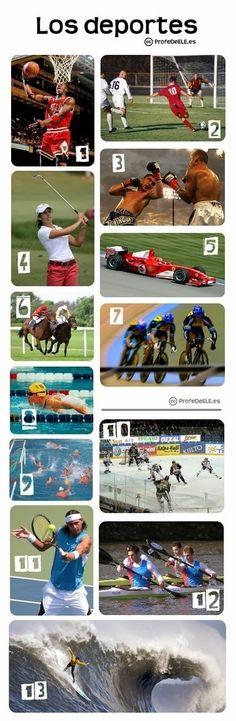 Vocabulario+de+los+deportes:+ProfeDeELE.es estos deportes me encantan